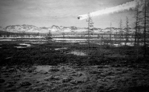 Šiame fotomontaže – tikėtinas reiškinio Vidurio Sibire ties Tunguska vaizdas./ Iliustracijos šaltinis: www.nasa.gov.