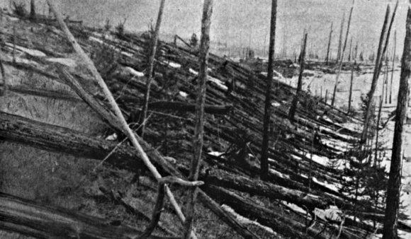 Miręs miškas ties Akmenuotąja Tunguska byloja apie paslaptingą įvykį, kurio prigimties vis dar nežinome./ Iliustracijos šaltinis: Lietuvos etnokosmologijos muziejus.