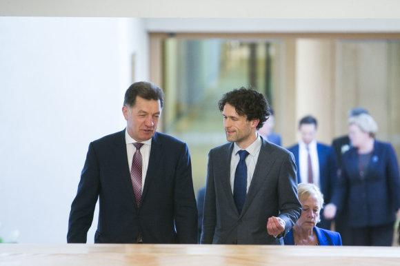 Irmanto Gelūno / 15min nuotr./Algirdas Butkevičius ir Šarūnas Keserauskas