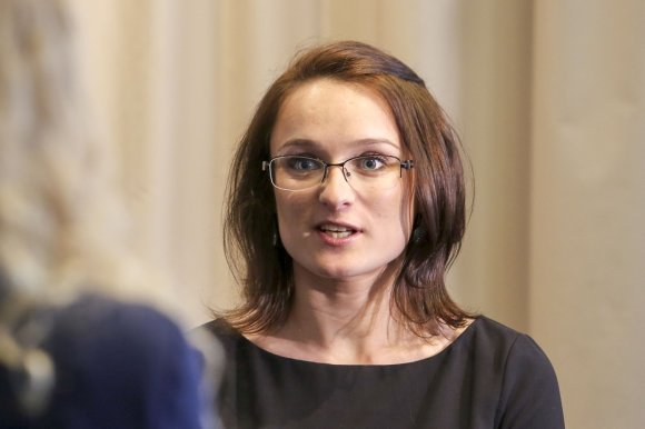 "Irmanto Gelūno/15min.lt nuotr./""Air Lituanica"" atstovė Sandra Meškauskaitė"
