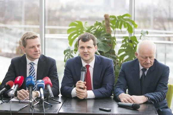 Irmanto Gelūno/15min.lt nuotr./Remigijus Šimašius pristatė naująją Vilniaus vadovybę