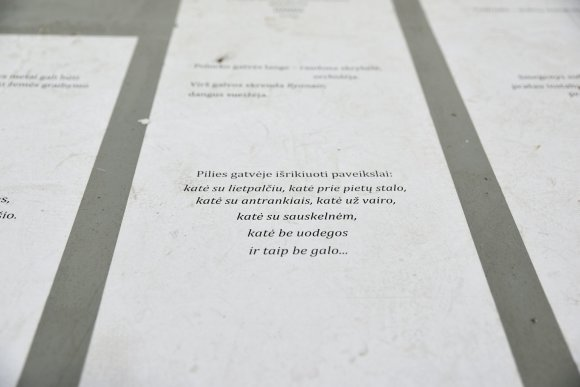 """Šarūnės Janušonytės/15min.lt nuotr./Šiuolaikiniame meno centre – paroda """"Post Ars. Partitūra"""""""