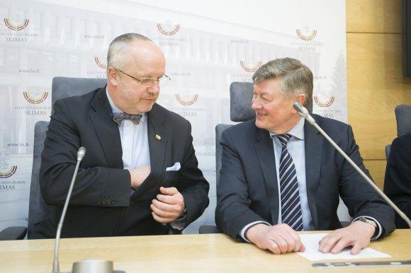 Irmanto Gelūno/15min.lt nuotr./Juozas Olekas ir Artūras Paulauskas