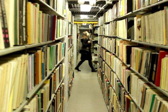 Irmanto Gelūno/15min.lt nuotr./Vilniaus universiteto bibliotekoje saugomas vertingų knygų lobynas.