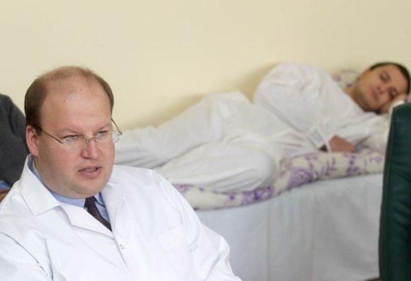 Irmanto Gelūno / 15min nuotr./Ligoninės direktorius, gydytojas psichiatras – Martynas Marcinkevičius