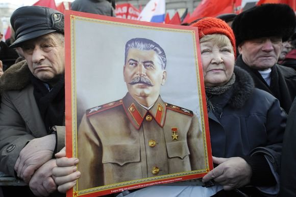"""AFP/""""Scanpix"""" nuotr./Maskvoje iki šiol daug žmonių, kurie palaiko Stalino idėjas"""