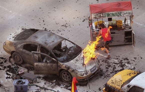 """AFP/""""Scanpix"""" nuotr./""""Transformerių 3"""" filmavimas Čikagoje"""