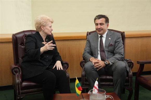 Prezidentūros nuotr. /Michailas Saakašvilis ir Dalia Grybauskaitė