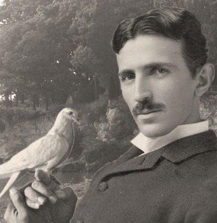 interestingengineering.com iliustracija/Nikola Tesla ir jo balandis