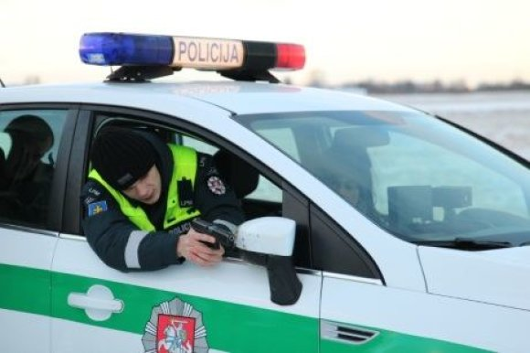 Policijos nuotr./Kursantų pratybų aerodrome akimirka