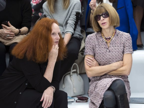 """Scanpix"" nuotr./Grace Coddington, Anna Wintour"