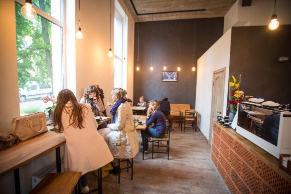 """Juliaus Kalinsko/15min.lt nuotr./Kavos restoranas """"Taste Map"""""""