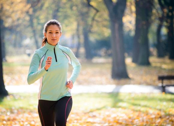 Vida Press nuotr./Bėgiojanti moteris