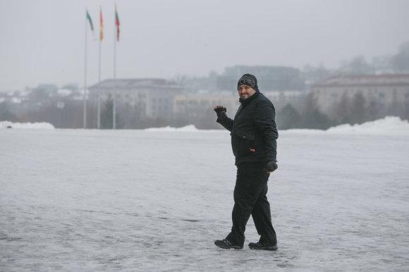 Eriko Ovčarenko / 15min nuotr./Italas Fabio dirba Kaune