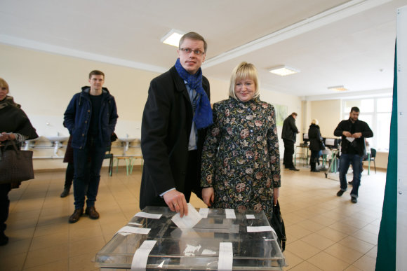 Eriko Ovčarenko/15min.lt nuotr./Andrius Kupčinskas su žmona Jurga