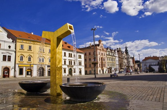 123rf.com nuotr./Auksinis fontanas Pilseno mieste