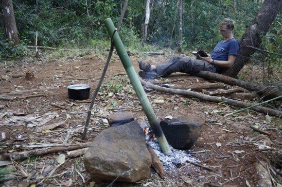 Baklažanų sriuba bambukiniame puode