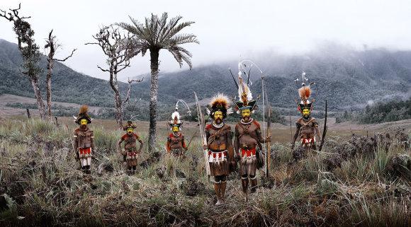 Huli genties vyrai
