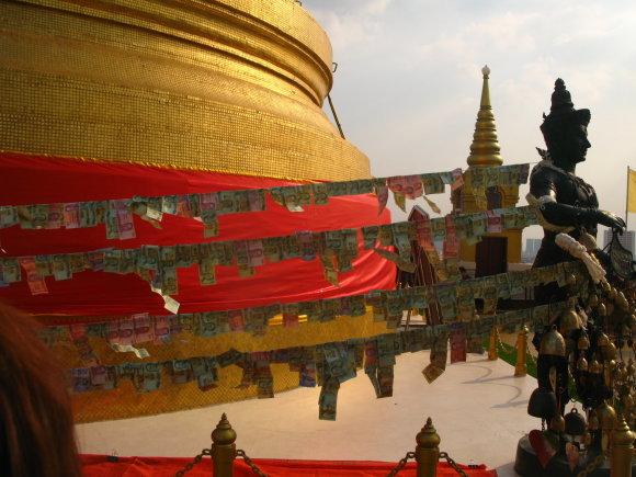 G.Juocevičiūtės nuotr./Auksinio kalno šventykla Wat Saket