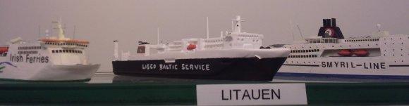 E.Kislych nuotr./Lietuvos laivo maketas Hamburgo jūrų muziejuje