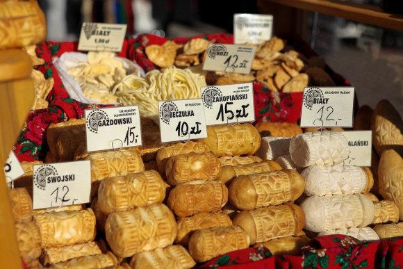 Zakopanėje pardavinėjami tradiciniai maisto produktai