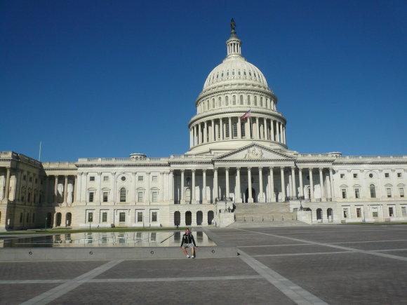Tandg.lt nuotr./Vieną didžiausių įspūdžių Gediminui ir Tautvydui paliko Vašingtone esantys Baltieji rūmai