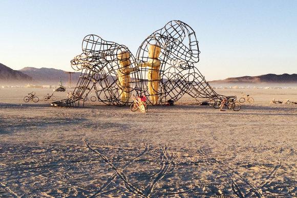 """Žanetos Paunksnės nuotr./Stebuklas dykumoje – festivalis """"Burning Man 2015"""""""