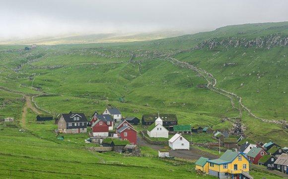123rf.com nuotr./Tipiškas kaimas Farerų salose