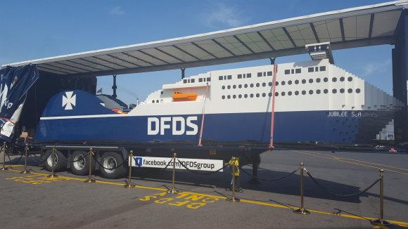 """DFDS nuotr./Didžiausias pasaulyje laivas iš """"Lego"""" kaladėlių."""