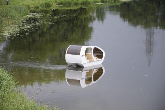 V.Pryšmanto nuotr./Klaipėdiečio sukurtas laivelis