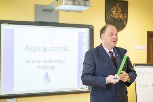 Gedimino Tamulyno nuotr./D. Numgaudis sako sveikinimo kalbą