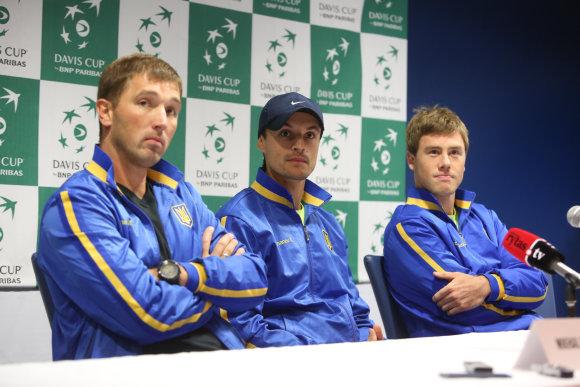 Juliaus Kalinsko/15min.lt nuotr./Iš kairės: Michail Filima, Denis Molčanov, Ilja Marčenko
