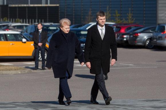 Juliaus Kalinsko / 15min nuotr./Dalia Grybauskaitė ir  Darius Jauniškis