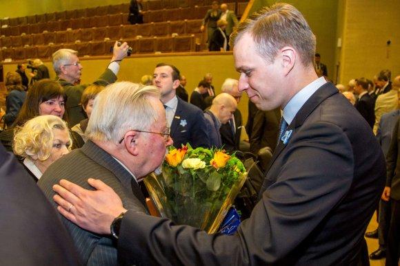Juliaus Kalinsko / 15min nuotr./Vytautas Landsbergis ir Gabrielius Landsbergis
