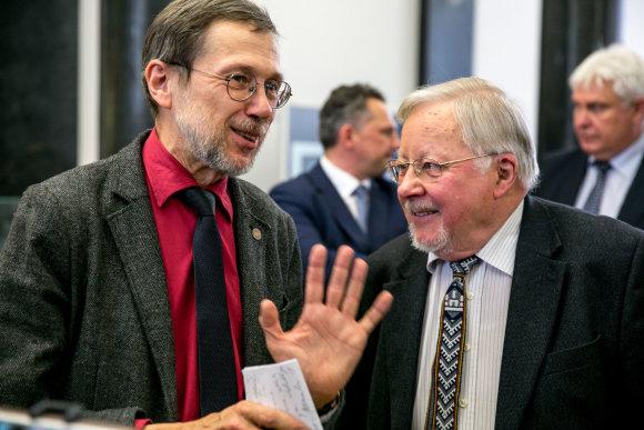 Juliaus Kalinsko / 15min nuotr./Liudas Mažylis ir Vytautas Landsbergis