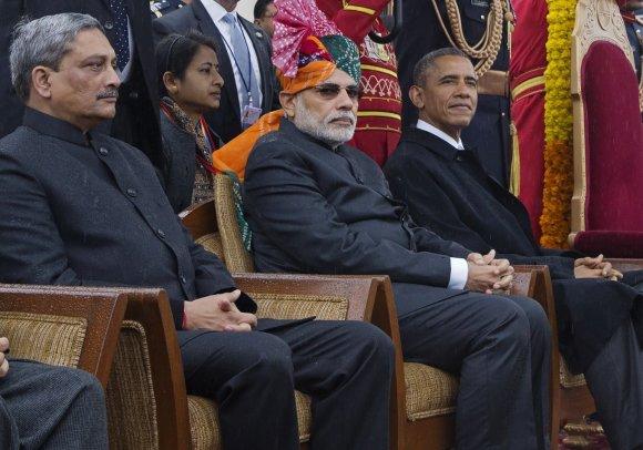 "AFP/""Scanpix"" nuotr./Indijos ministras pirmininkas Narenda Modi ir JAV prezidentas Barackas Obama"