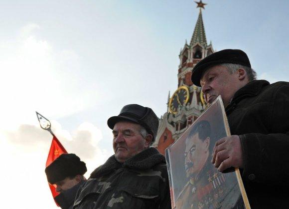 """AFP/""""Scanpix"""" nuotr./Maskvoje minimios Josifo Stalino mirties metinės"""