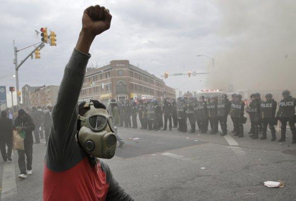 """""""Scanpix""""/AP nuotr./Riaušės Baltimorėje"""