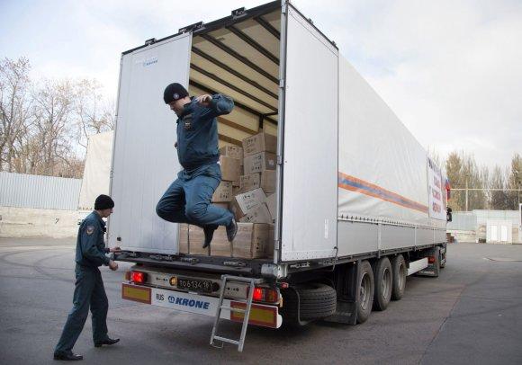 """""""Scanpix""""/AP nuotr./Rusijos humanitarinės pagalba atvyko į Ukraina"""