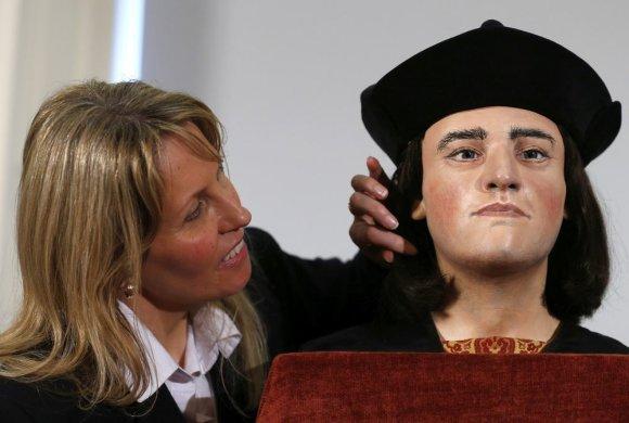 """""""Reuters""""/""""Scanpix"""" nuotr./Pristatyta Anglijos karaliaus Richardo III veido rekonstrukcija"""