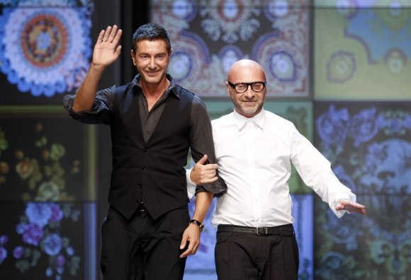 """Reuters""/""Scanpix"" nuotr./Dizaineriai Domenico Dolce (dešinėje) ir Stefano Gabbana"