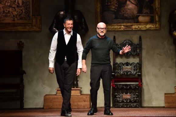 "AFP/""Scanpix"" nuotr./Dizaineriai Stefano Gabbana ir Domenico Dolce"