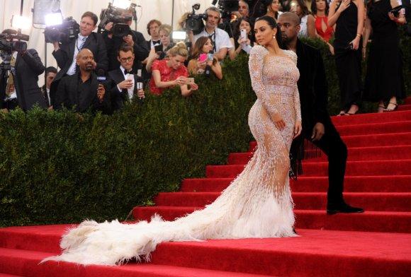 """""""Scanpix""""/AP nuotr./Kim Kardashian ir Kanye Westas"""