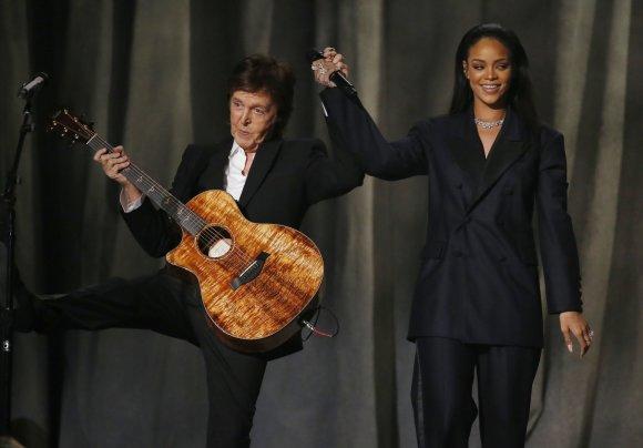 """Reuters""/""Scanpix"" nuotr./Paulas McCartney ir Rihanna"