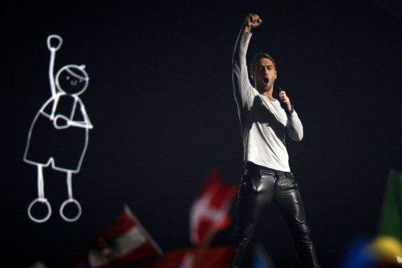"""AFP/""""Scanpix"""" nuotr./Švedijos atstovas Mansas Zelmerlowas"""