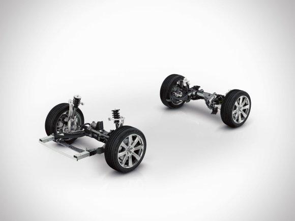 """""""Volvo"""" nuotr. /""""Volvo XC90"""" važiuoklė"""