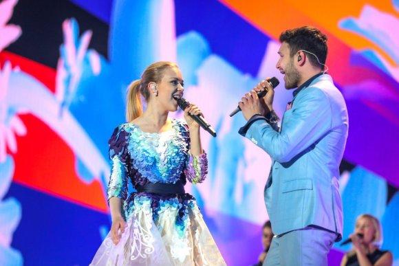 Elenos Volotovos (EBU) nuotr./Vaidas Baumila ir Monika Linkytė