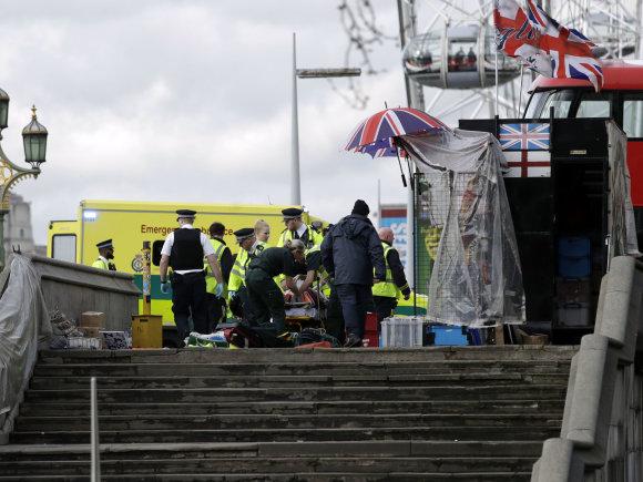 """""""Reuters"""", AP nuotr./Teroro išpuolis Londone"""