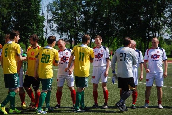 """""""Press'o"""" nuotr./Žurnalistų futbolo turnyras Druskininkuose: Vilnius susitinka su Briansku"""