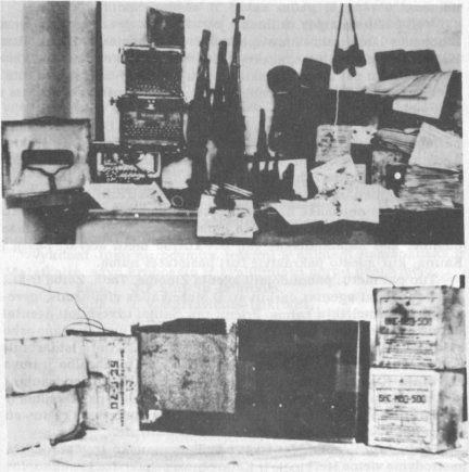 Nuotr. iš partizanai.org/Adolfo Ramanausko-Vanago bunkeryje rasti daiktai.